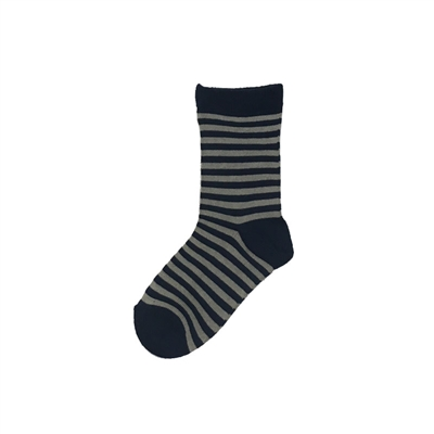 Sock 101 - The Titan Navy and Blue Striped Kids Sock