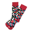 The School of Sock - The Tosha Red, Blue and Black Checkered Sock