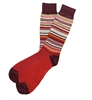 The School of Sock - The Travis Maroon, Yellow, Gray, Pink, White and Red Big and Tall Sock