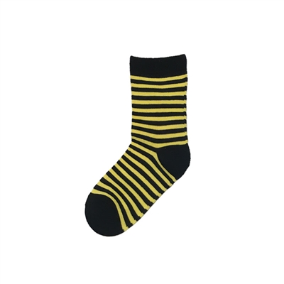 The School of Sock - The Truman Black and Yellow Striped Kids Sock
