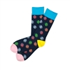 The School of Sock - The Ty Navy, Yellow, Pink, Blue and Red Polka Dot Sock