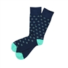Sock 101 - The Wade Navy, Colorful Over The Calf Pattern Sock