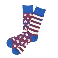 The School of Sock - The Washington Red, White and Blue American Flag Sock