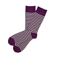 The School of Sock - The Willie Purple and Silver Striped Sock