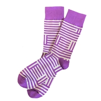 The School of Sock - The Purple, Silver and Gray Wildcat Kansas Sock