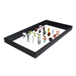 Glass Figure Display Mirror Tray
