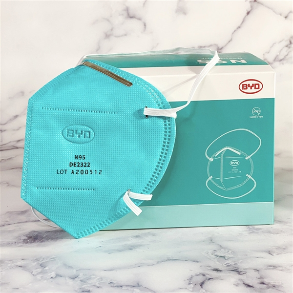N95 Particulate Respirator Foldable  BYD  Mask Box of 20