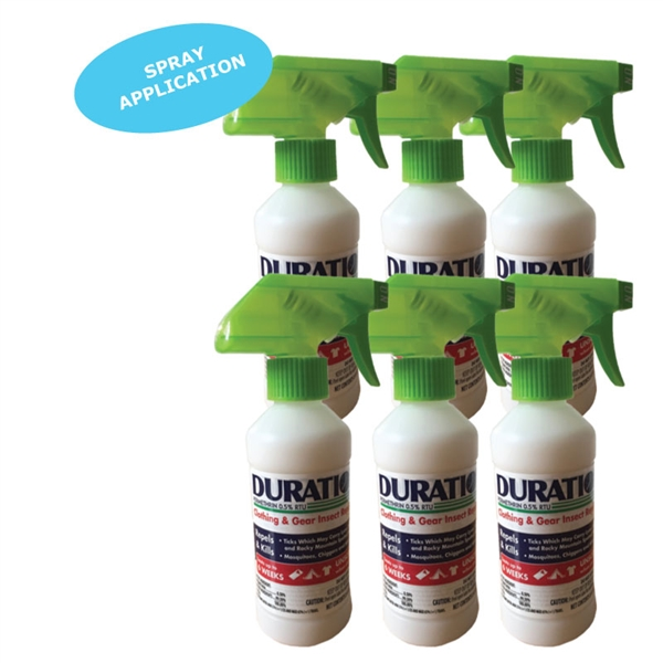 6 pack duration permethrin spray bottles