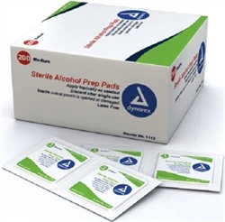 Alcohol Prep Pads Box 200 PER BOX MED