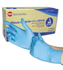 Nitrile Gloves Box of 100 Large