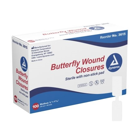 "Butterfly Medium Bandage 3/8"" x 1 13/16"" Box 100"