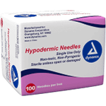"Hypodermic Needle 23G, 1 1/2"" needle Box of 100"