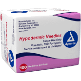 "Hypodermic Needle 25G, 1 1/2"" needle Box of 100"