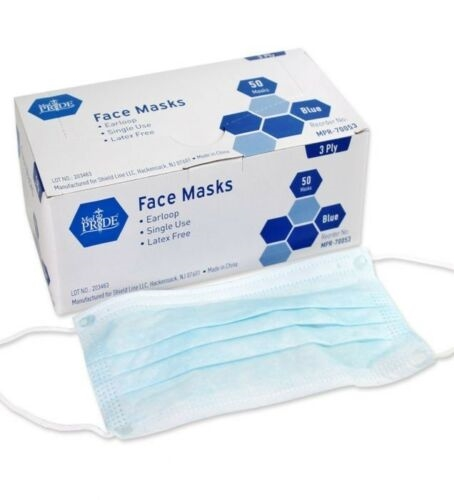 3Ply Ear Loop Mask Box of 50 by MedPride