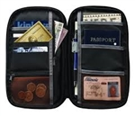 Ideal document organizer features compartments for ID, passport, travel documents, etc. Ideal of traveler that likes to have everything in one place and keep it safe with RFID protection.