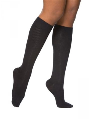 Sigvaris Women Casual Cotton Travel Socks, SIZE B BLACK