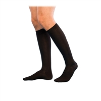 Sigvaris Mens Casual Cotton Travel Socks, SIZE B Black