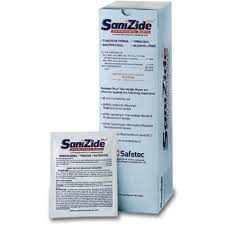 SaniZide Plus Germicidal Wipes Box of 50