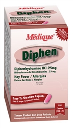 Diphen (comapres to Benadryl) Allergy/Hay Fever Reliever 24Packets