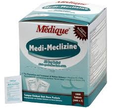 Medi-Meclizine (compares to Dramamine) for motion sickness 12 Packets of 2 Tabs