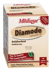Diamode (compares to Imodium) clinically proven formula, effective for the control and relief of diarrhea symptoms, comes in convenient single-dose packets containing 1 tablet each, diarrhea prevention, diarrhea treatment, traveler's diarrhea