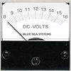 Blue Sea 8028 DC Analog Micro Voltmeter, 2inch Face, 8-16 Volts DC