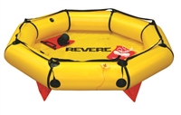 Revere Coastal Compact 4 Person Life Raft, Valise Bag 45-CC4V