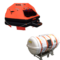 Revere 12 Person DL Davit Launch B-Pack, USCG/SOLAS Approved Liferaft with Cradle