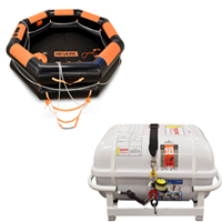 Revere IBA 4 Person Liferaft Container with Cradle, USCG Approved