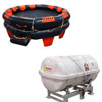 Revere IBA 50 Person Liferaft Container with Cradle, USCG Approved
