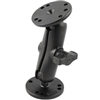 "Ram Mount Double Socket Arm with 2 2.5"" Round Bases"