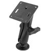 "Ram Mount Double Socket Arm with 2.5"" Round Base 3.625"" Square"