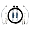 Rupp Single Rigging Kit with Klickers, Black Mono 160' CA-0110-MO