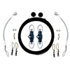 Rupp Single Rigging Kit with Nok-Outs, Black Mono 160' CA-0025-MO