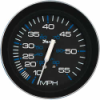 Faria Gauge, Speedometer 33009 Black 55 MPH