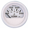 Faria Dress White Series Water Temp Gauge, 100-250F 13110