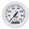 "Faria Dress White 4"" Tachometer with Systemcheck Indicator, 7,000 RPM (Gas, Johnson/Evinrude Outboard) 33150"