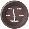 Teleflex Amega Series Water Temp Gauge, Electric, 120-240F, Requires D Sender 57904p