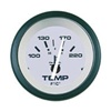 Teleflex Driftwood Series Water Temp Gauge, Electric, 100-220F 61552p
