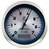 Teleflex Tachometer/LCD Hour, Elect, with Holdoff, 7000 RPM 63474p