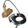 SI-TEX 300/50/200T 50/200Khz Bronze Thru Hull Depth & Temp 8Pin Transducer