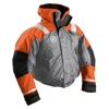 First Watch AB-1100 Flotation Bomber Jacket - Orange/Grey - Small, AB-1100-OG