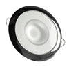 "Lumitec Mirage Flush Mount Interior Down Light, Dimmable White & Blue, Glass Fixture/Polished Bezel, 3.25"" Diameter 113111"