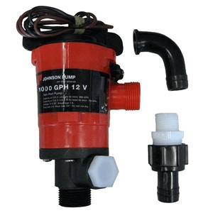 Johnson Pump Twin Port 1000 GPH Livewell Aerating Pump - 12V 48903