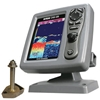 SI-TEX CVS126 Dual Frequency Color Echo Sounder with 600W Thru-Hull Transducer 1700/50/200T-CX