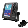 SI-TEX SVS-760CF Dual Frequency Chartplotter Sounder with Navionics+ Flexible Coverage & Transom Mount Triducer