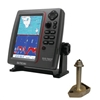SI-TEX SVS-760CF Dual Frequency Chartplotter/Sounder with North America Navionics+ Flexible Coverage & 1700/50/200T-CX Bronze Thru-Hull Temp Transducer