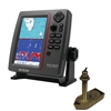 SI-TEX SVS-760CF Dual Frequency Chartplotter/Sounder with North America Navionics+ Flexible Coverage & 307/50/200T 8P Transducer