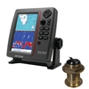 SI-TEX SVS-760CF Dual Frequency Chartplotter/Sounder with North America Navionics+ Flexible Coverage & Bronze 12 Degree Transducer