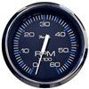 "Faria Chesapeake Black Stainless Steel 4"" Tachometer, 6,000 RPM (Gas, Inboard & I/O) 33710"